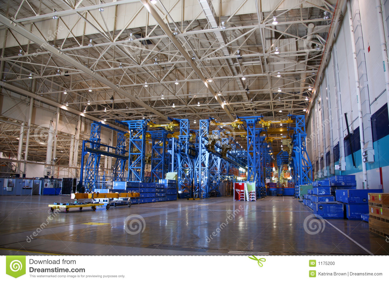 inside aerospace production facility -#main