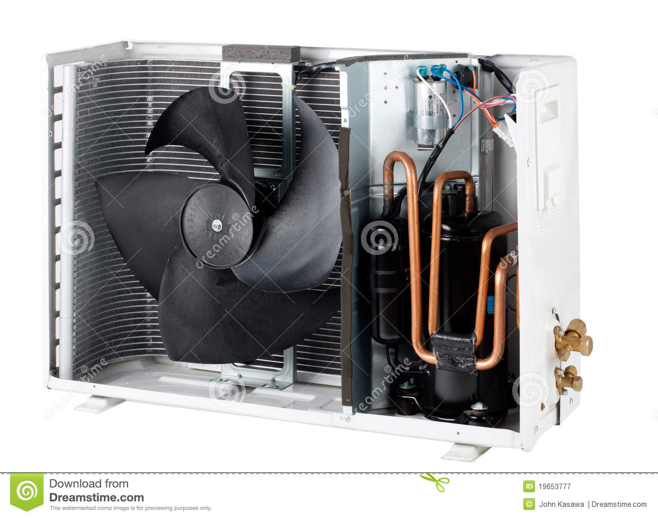 Ac Unit Prices >> Cross Section Inside The Air Condensing Unit Isola Royalty Free Stock Photography - Image: 19653777