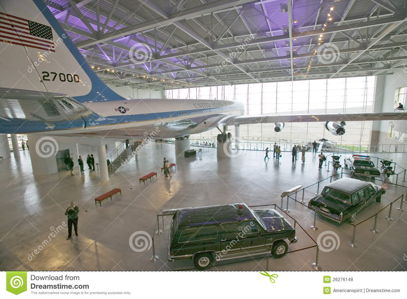 Inside The Air Force One Pavilion Editorial Stock Photo