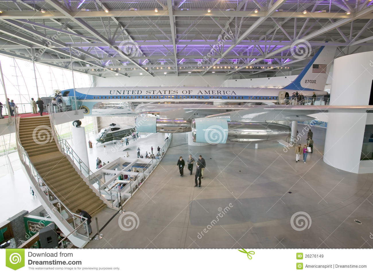Inside the air force one pavilion editorial stock image for Force interieur
