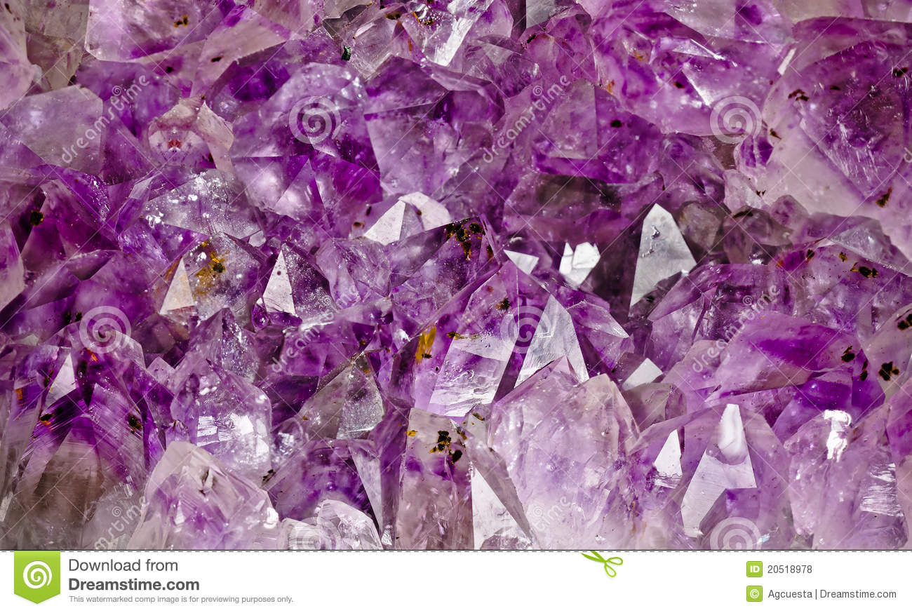 Inside Of An Amethyst Geode Stock Photo Image 20518978
