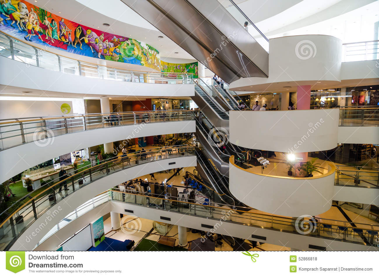 Inside Of Bangkok Art And Culture Centre Editorial Stock Photo - Image: 52866818