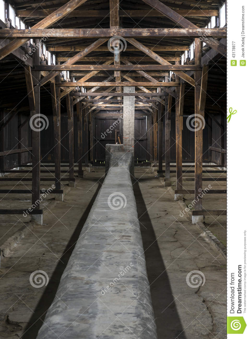 inside of barrack in auschwitz concentration camp poland