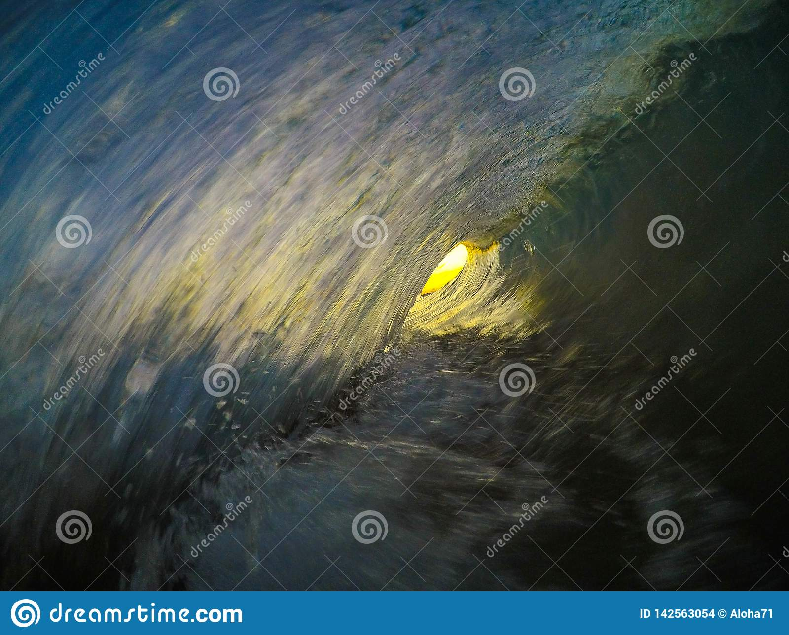 Inside the barrel of a wave