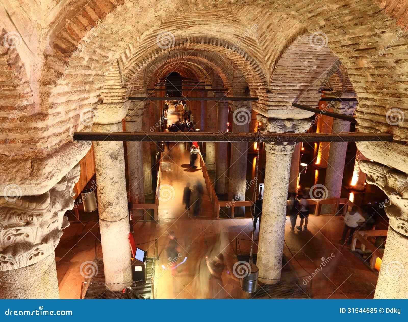 Inside The Basilica Cistern Istanbul Stock Image Image
