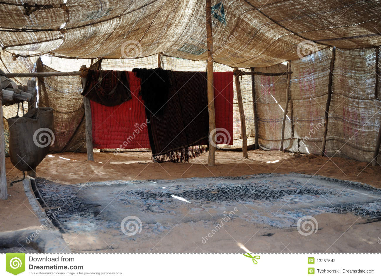 Inside Of A Bedouin Tent Stock Photos Image 13267543