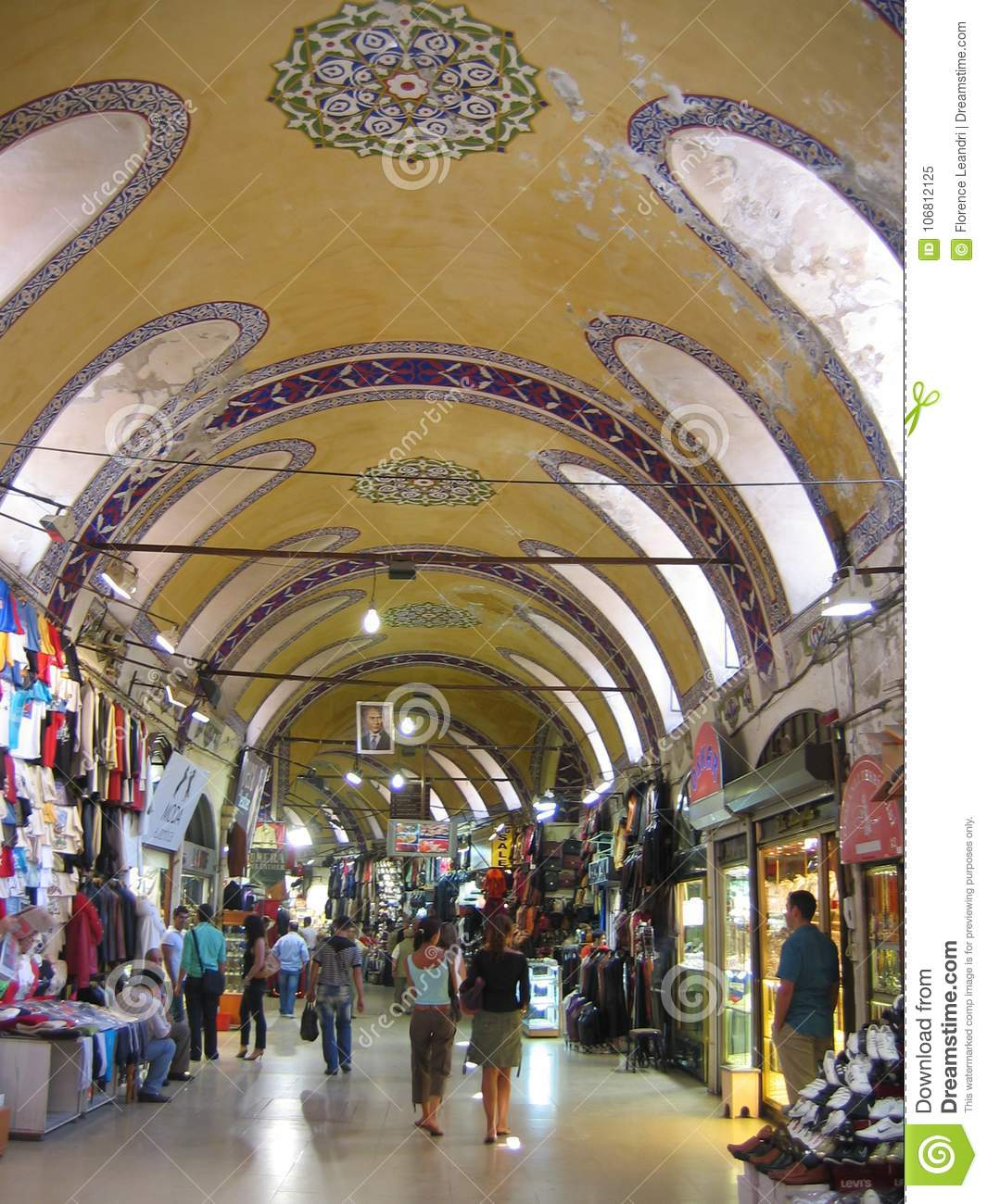 Inside The Big Bazaar Of Istanbul In Turkey With Its