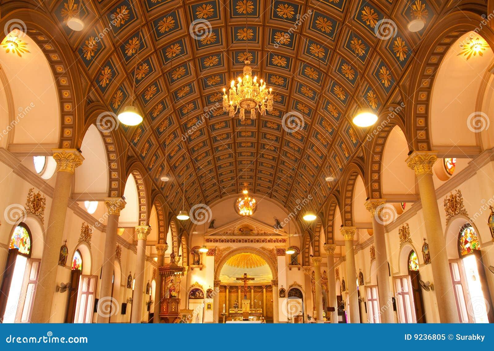 Inside Of Catholic Church Royalty Free Stock Photo Image