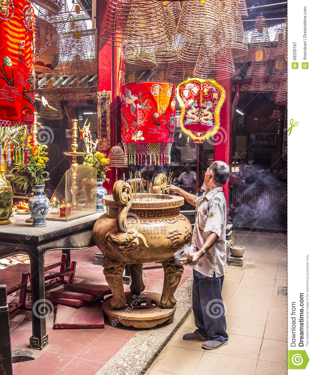 Inside the chinese temple