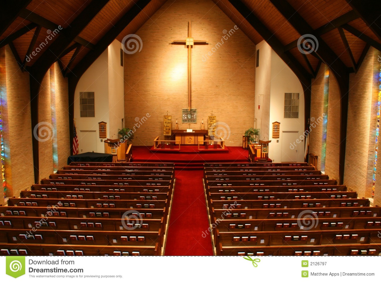 Inside Of A Church Balcony View Stock Image Image Of Gathering Methodist 2126797