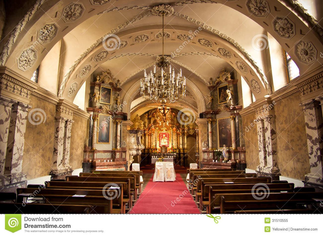 Inside Of A Church Royalty Free Stock Photo Image 31510555