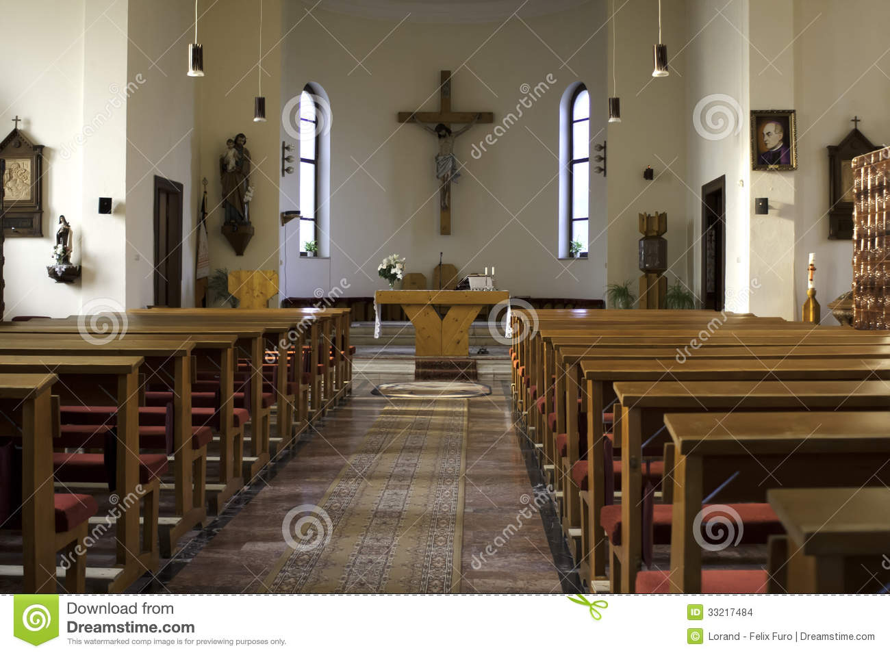 Inside Of A Church Stock Images Image 33217484
