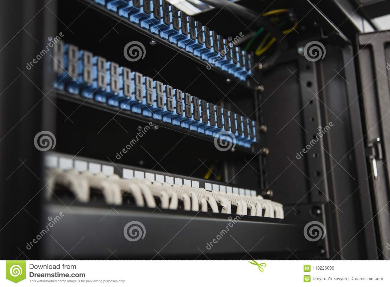 Download Modern Server Closet Filling With Equipment Stock Photo   Image Of  Cyber, Installation: