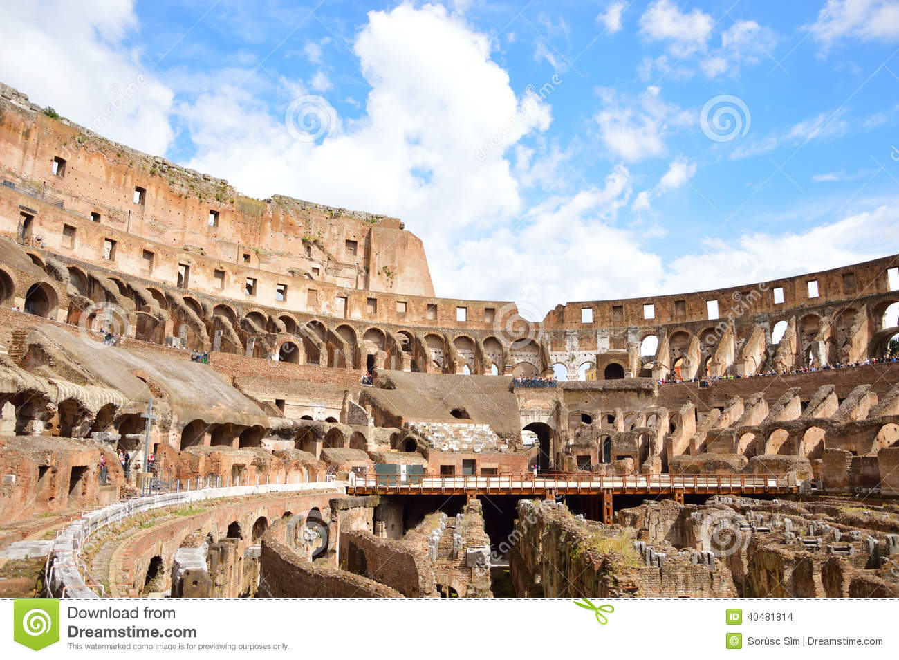 how to draw the inside of the colosseum