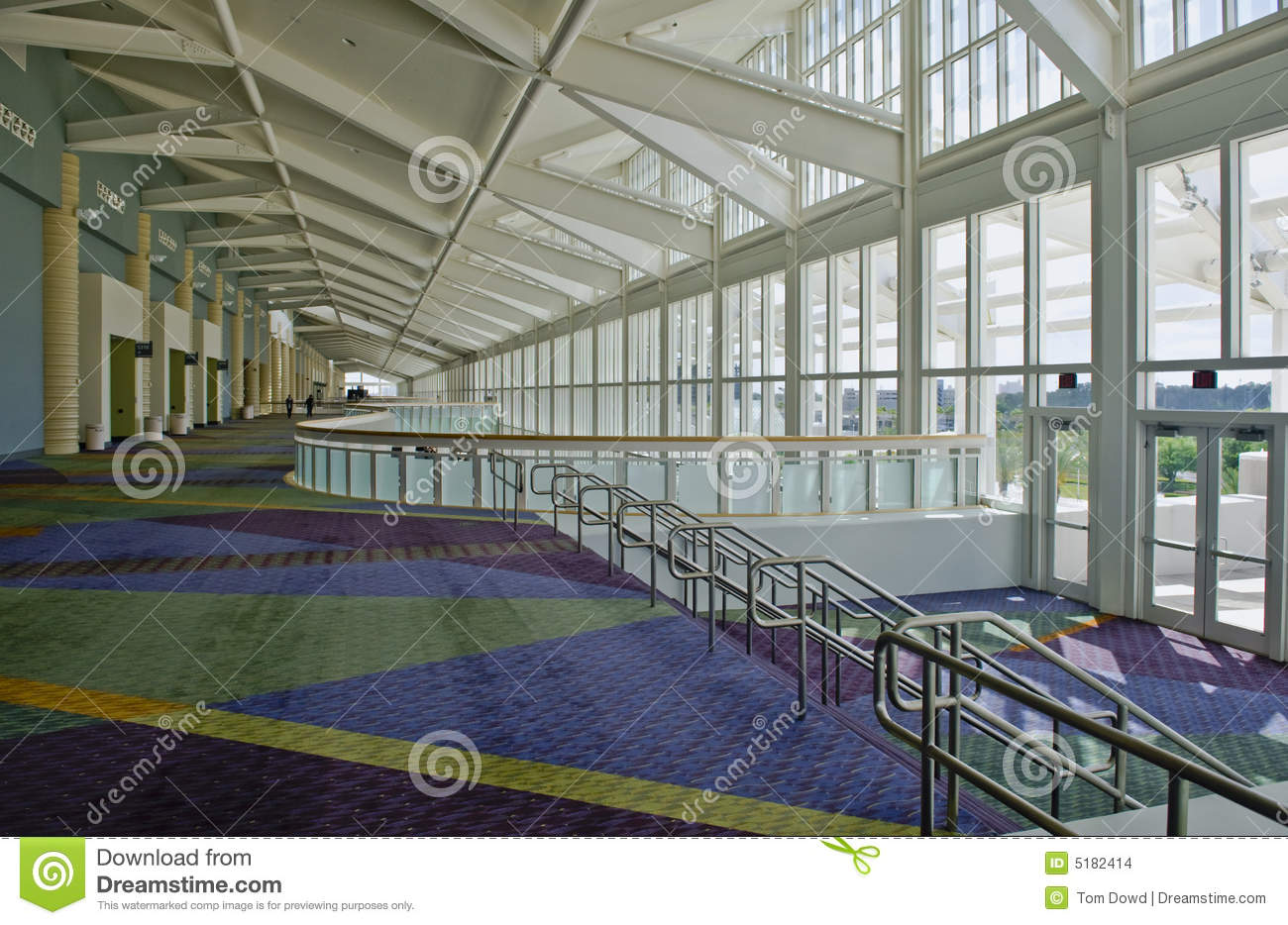 Orange County Convention Center Floor Plan: Inside Convention Center Stock Images