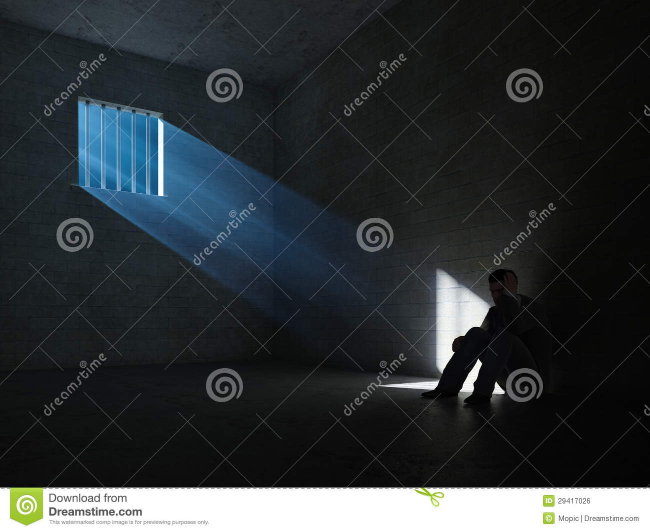 Inside A Dark Prison Cell Royalty Free Stock Image - Image ...