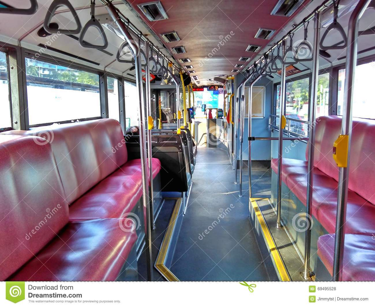 Inside a double decker bus stock photo image 69495528 Tour bus interior design