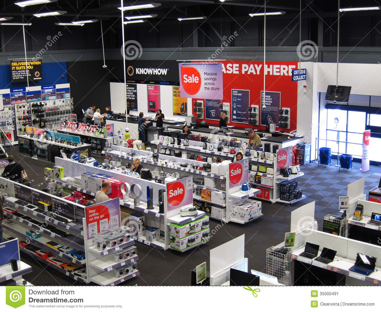 Inside An Electrical Appliance Store. Editorial Photo - Image: 35000491