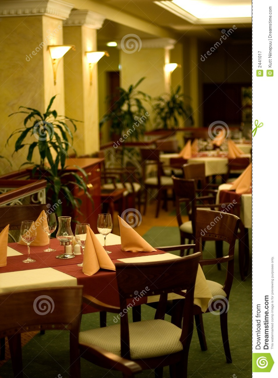 Inside Elegant Restaurant Stock Image Image Of Fancy