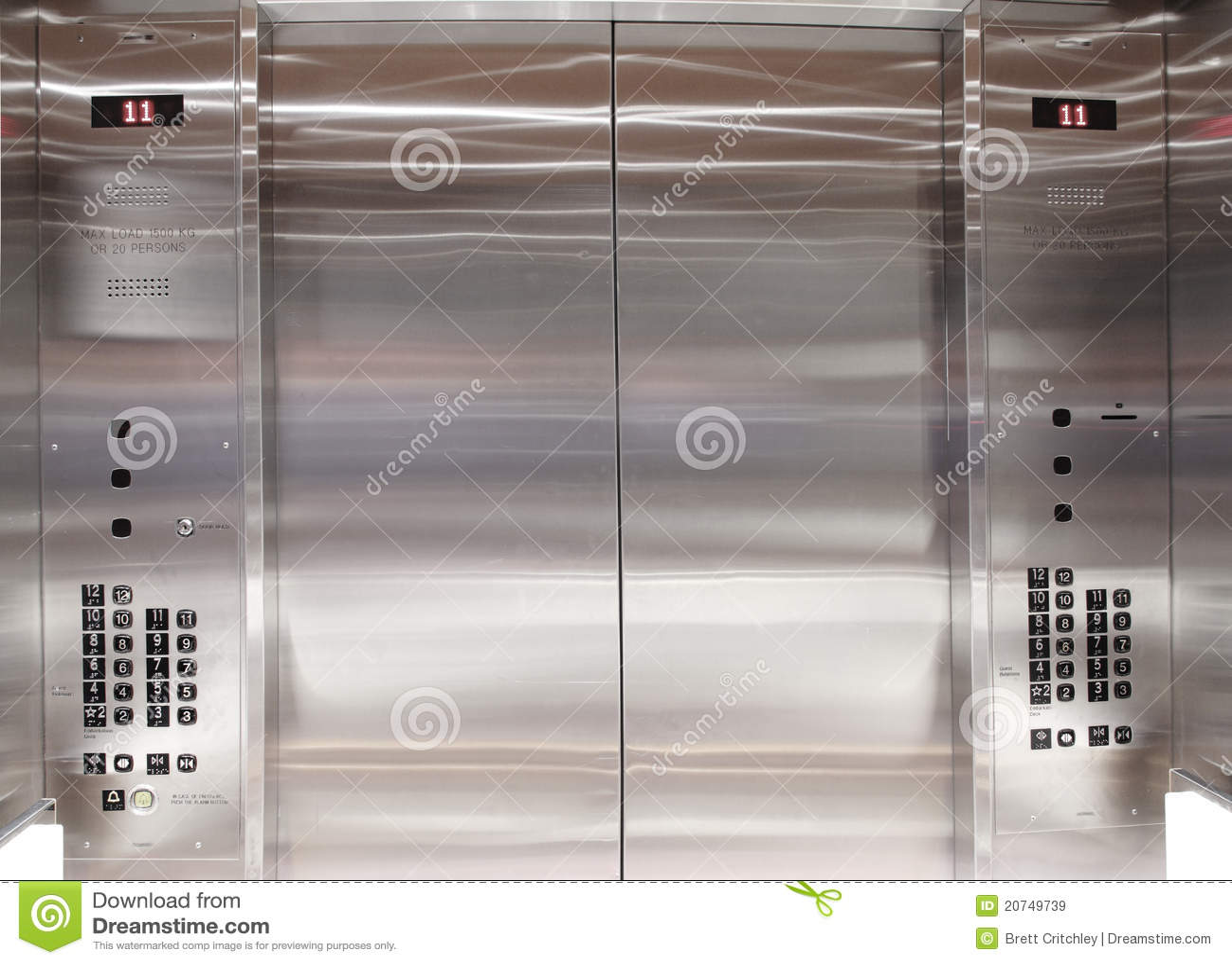 Inside elevator lift