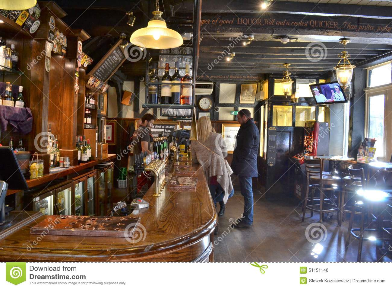 traditional london pub interior editorial image image 51151140. Black Bedroom Furniture Sets. Home Design Ideas
