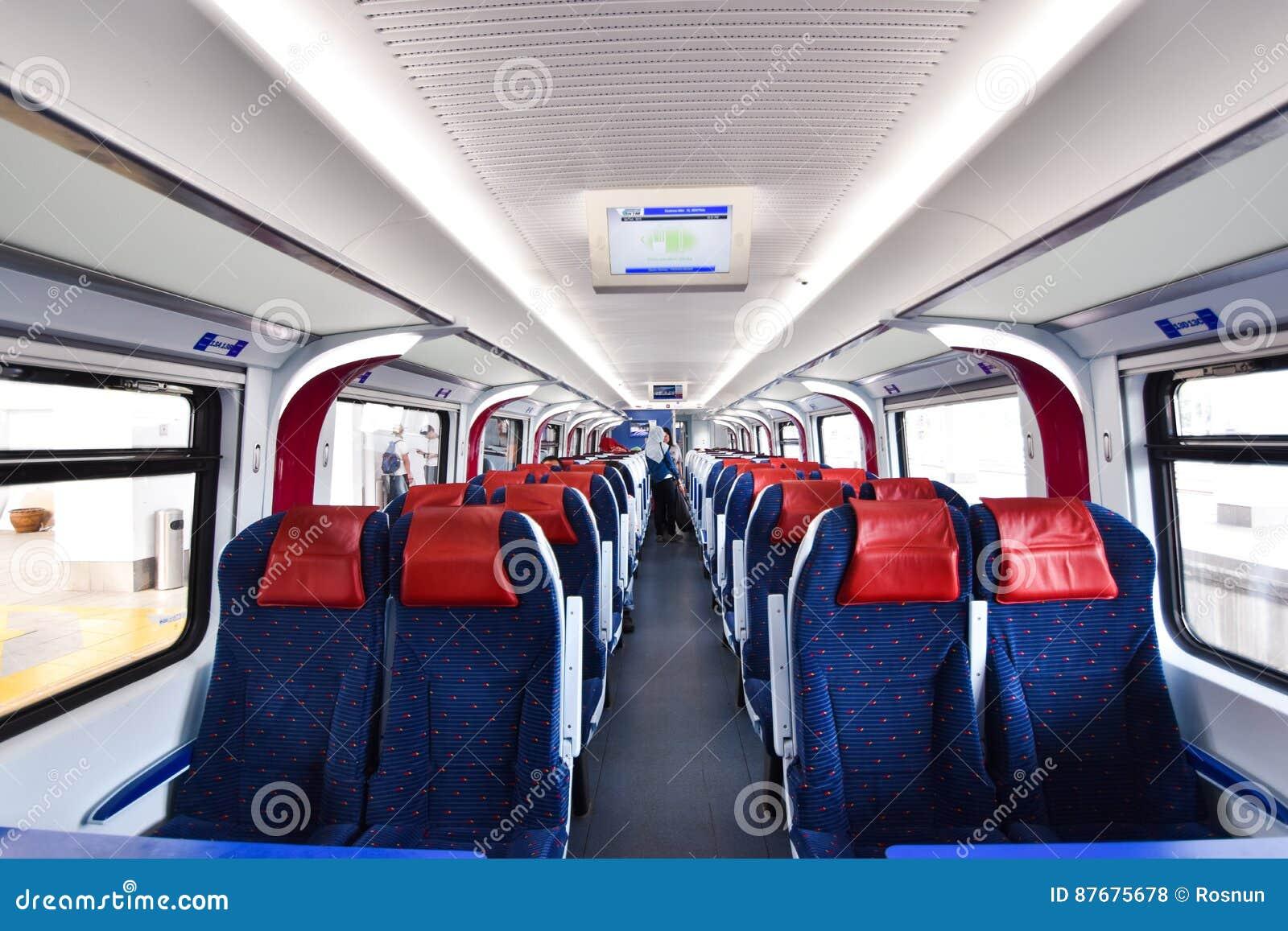 inside ets train inter city rail service in malaysia editorial