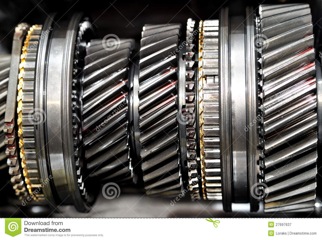 Inside gearbox  stock image  Image of metal, mechanical - 27697637