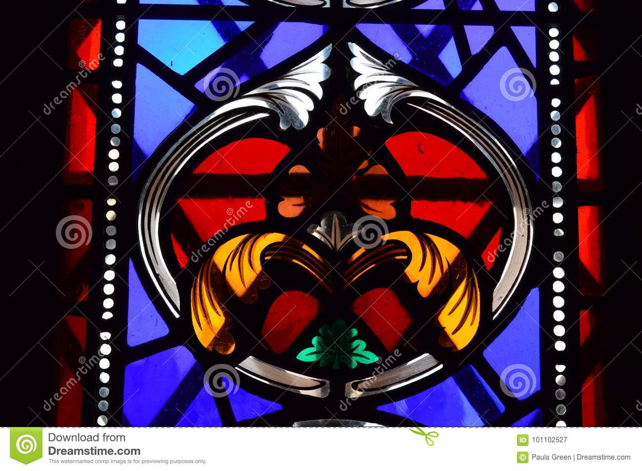 Inside the Great Tower - Stained glass window