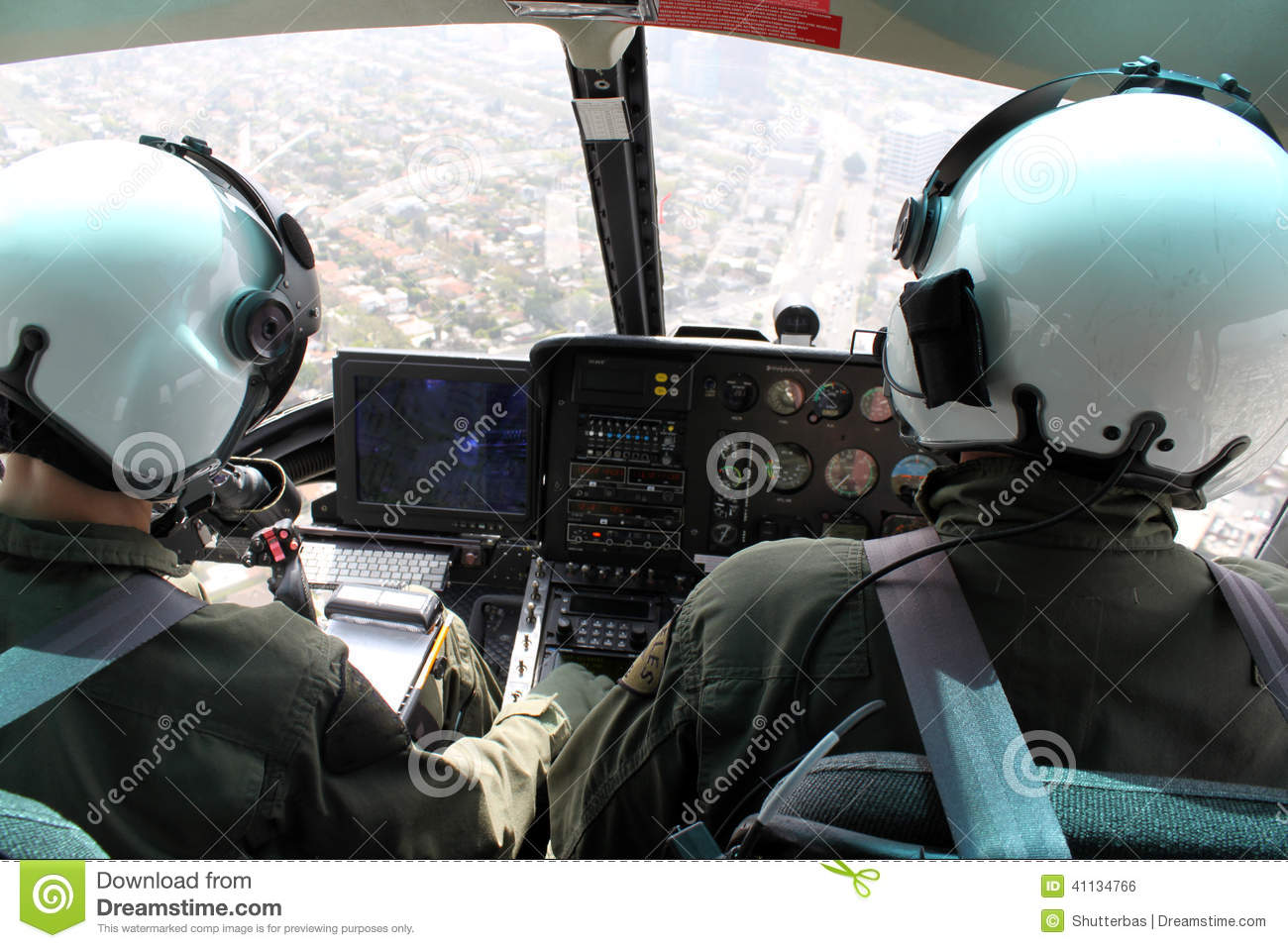 Inside Helicopter Stock Photos