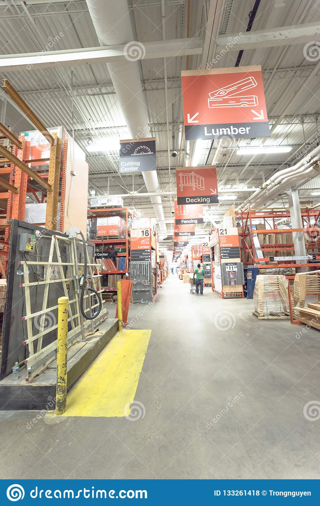 Inside Home Depot Hardware Store In Dallas Texas America Editorial Stock Photo Image Of Commerce Indoor 133261418