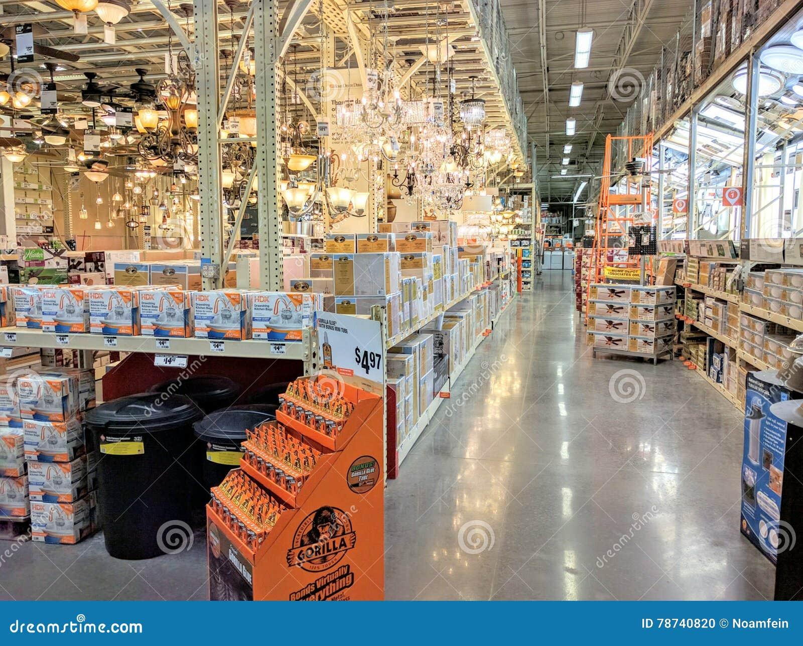 Inside Home Depot editorial image. Image of inside, interior ...