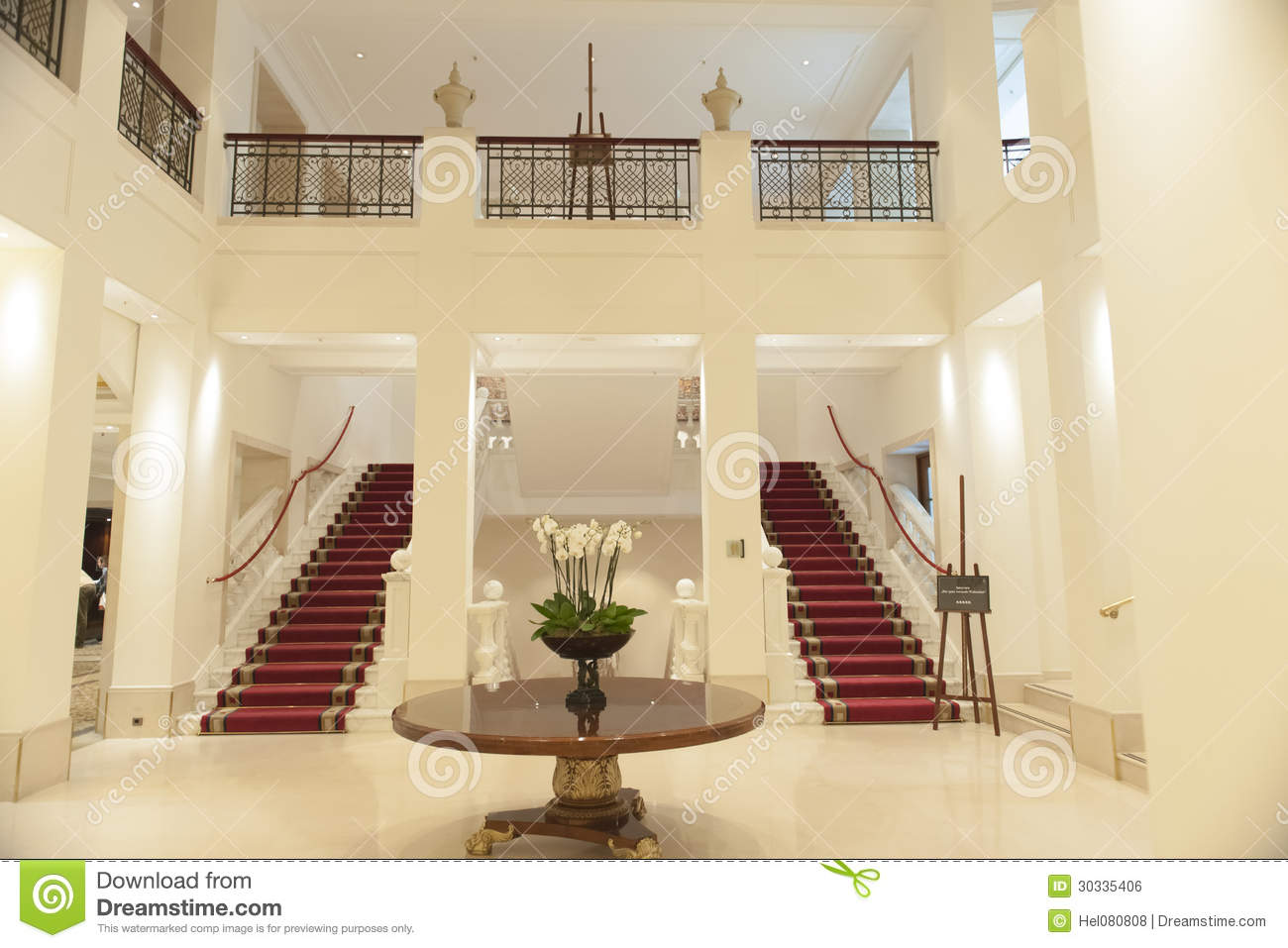Inside Hotel Adlon Berlin Stock Photo Image Of Staircase
