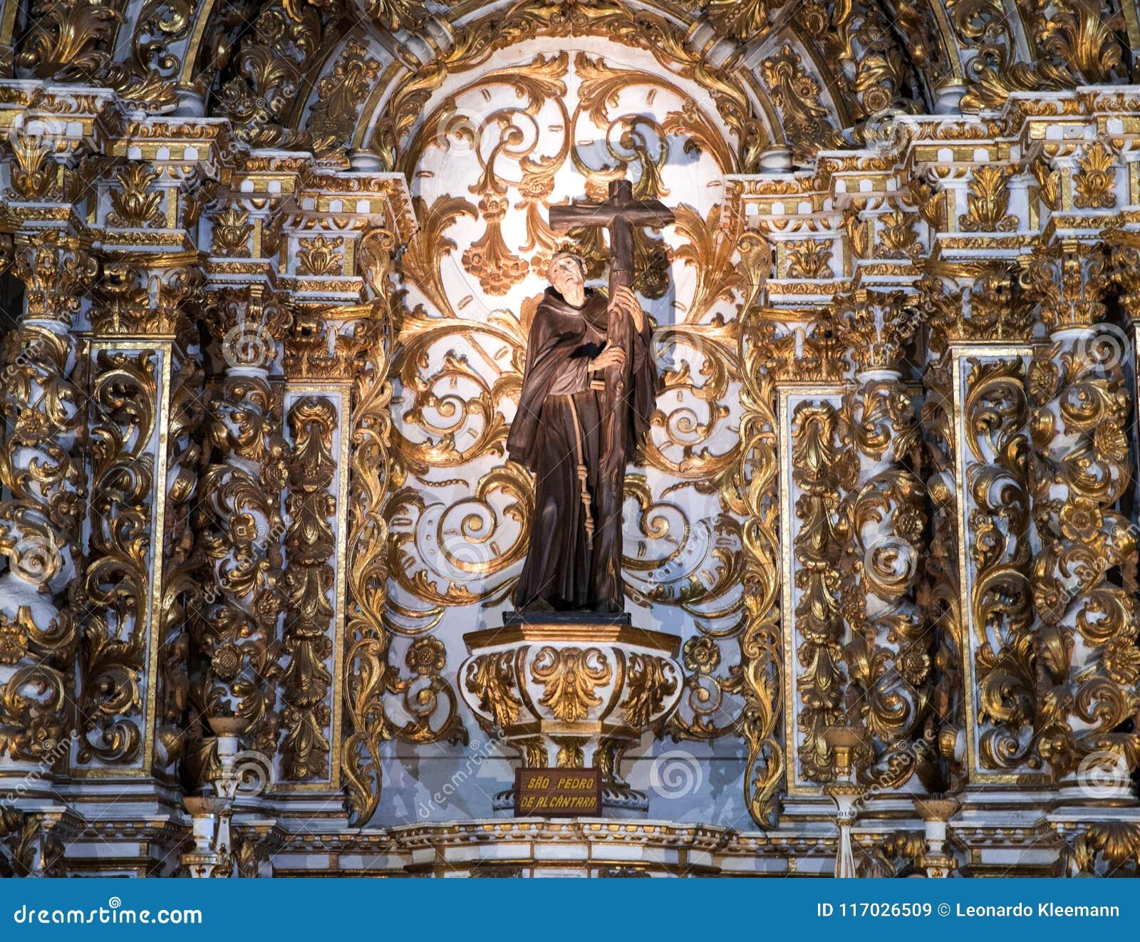 Inside Igreja e Convento de São Francisco in Bahia, Salvador - Brazil