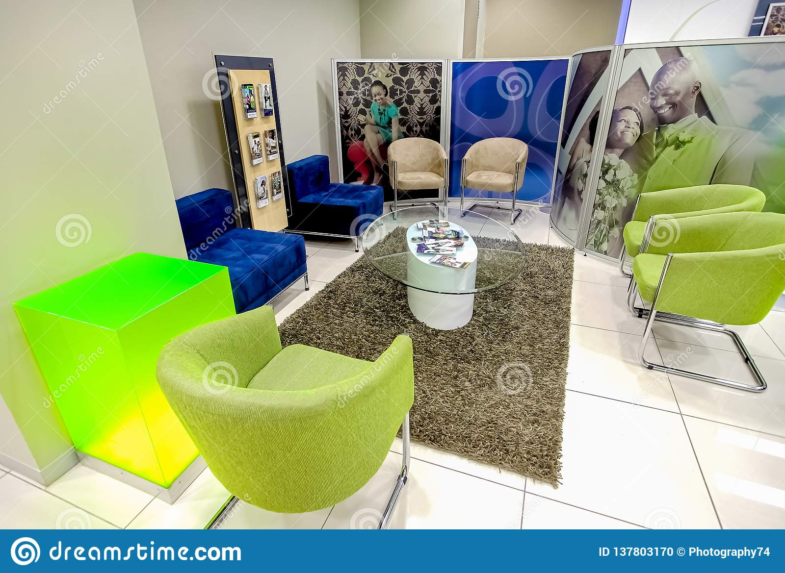 Inside interior of a modern african bank editorial image image