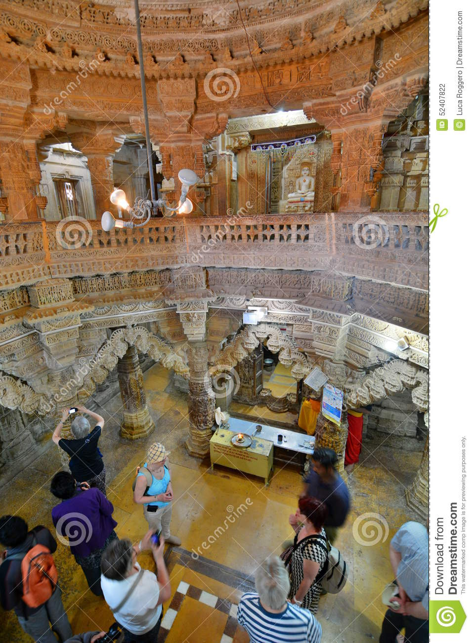 Inside the Jain temple. Jaisalmer Fort. Rajasthan. India