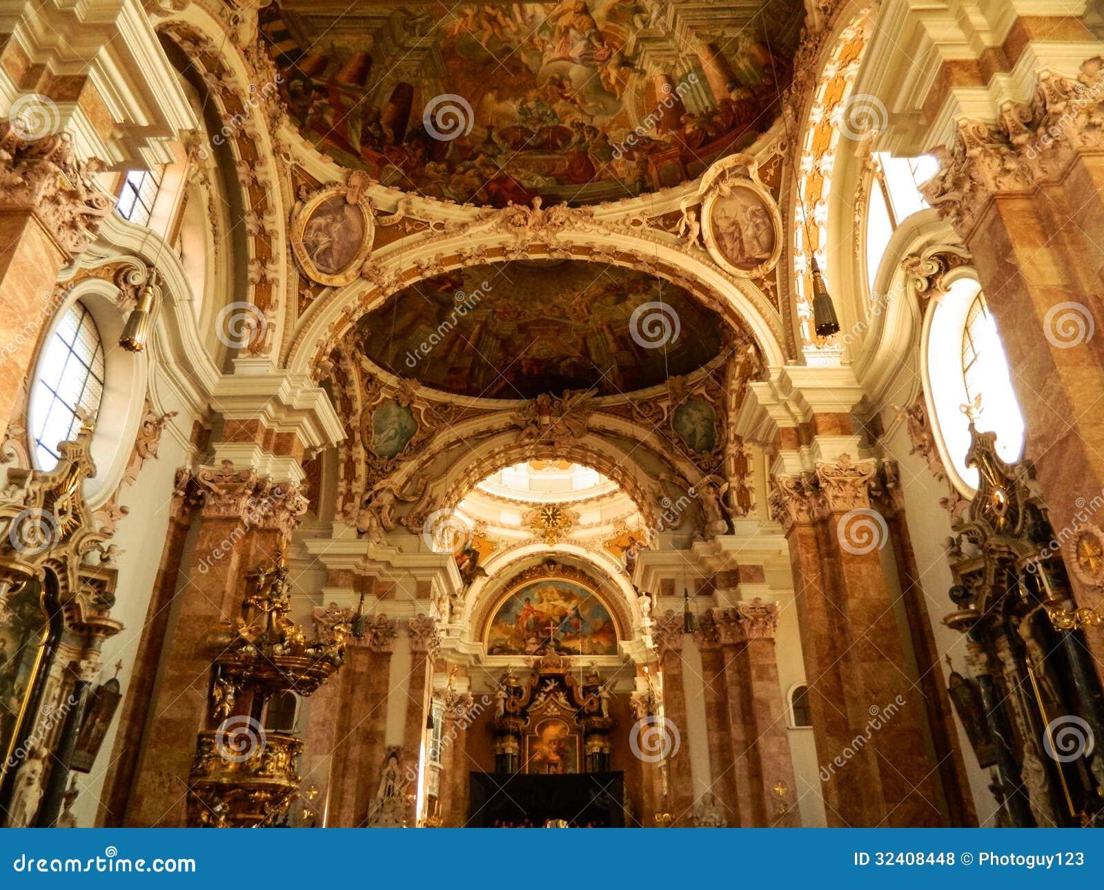 Inside jesuit church innsbruck royalty free stock photos for Interior design innsbruck