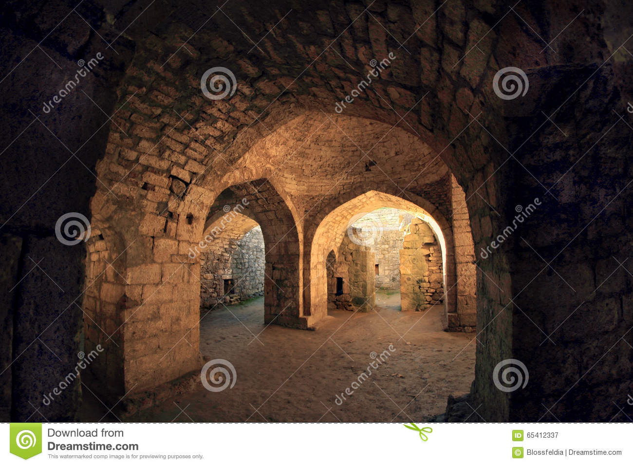 Inside Of The Khan\'s Baths In Sassanid Fortress Naryn-Kala In ...