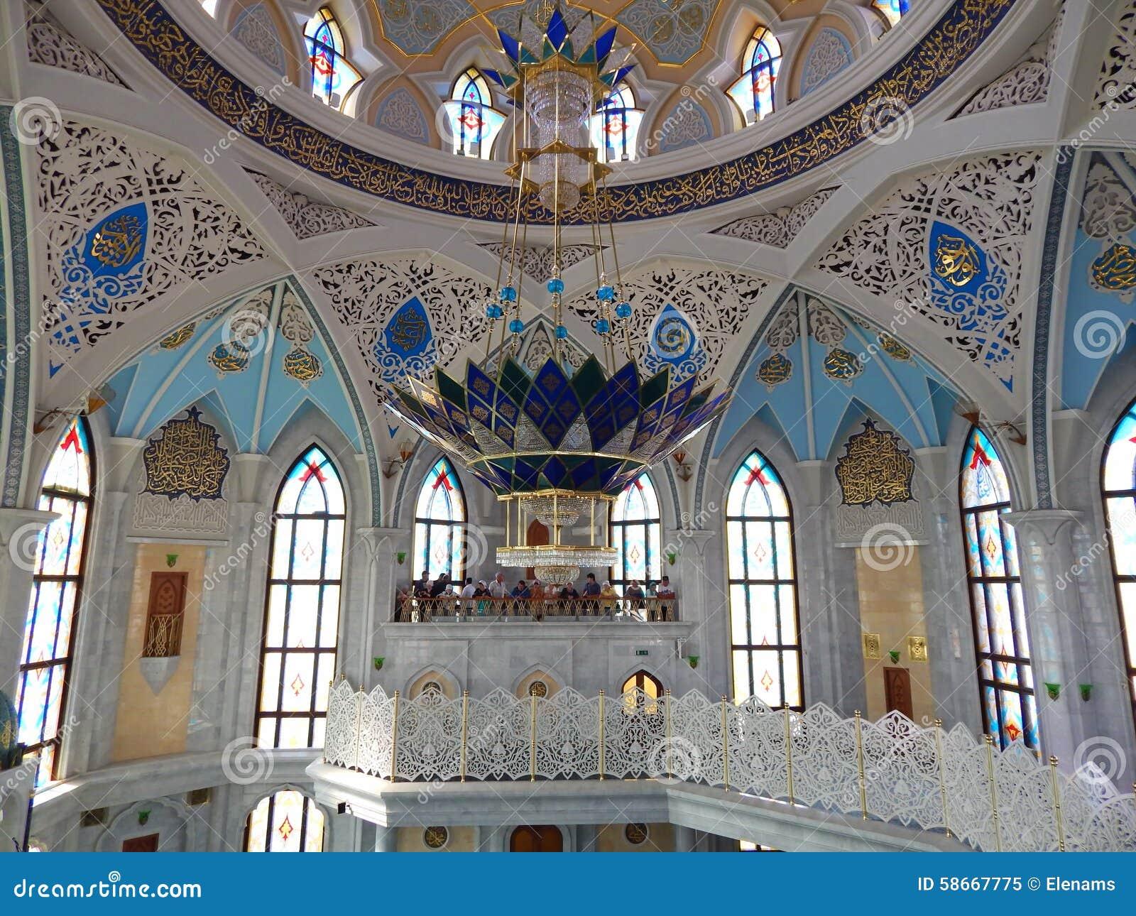 Inside the kol sharif mosque in the kazan kremlin in the for Inside l interieur