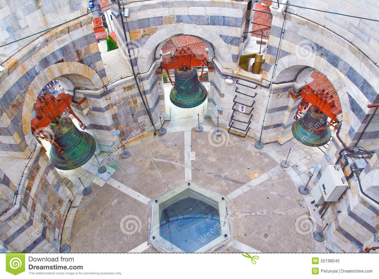 Inside the leaning tower of pisa stock image image of for Inside l interieur