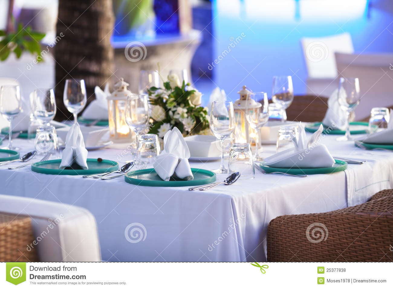 inside the luxury outdoor restaurant royalty free stock. Black Bedroom Furniture Sets. Home Design Ideas
