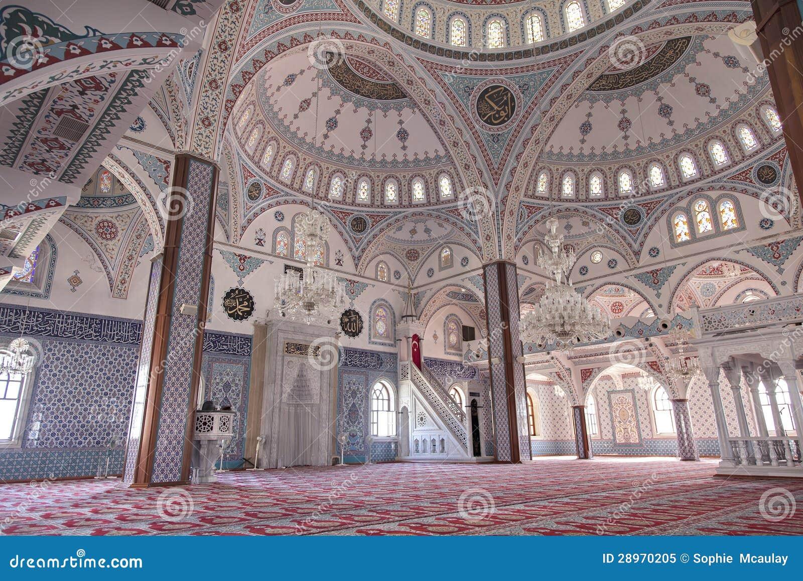 Inside Manavgat Mosque Turkey Royalty Free Stock Photo