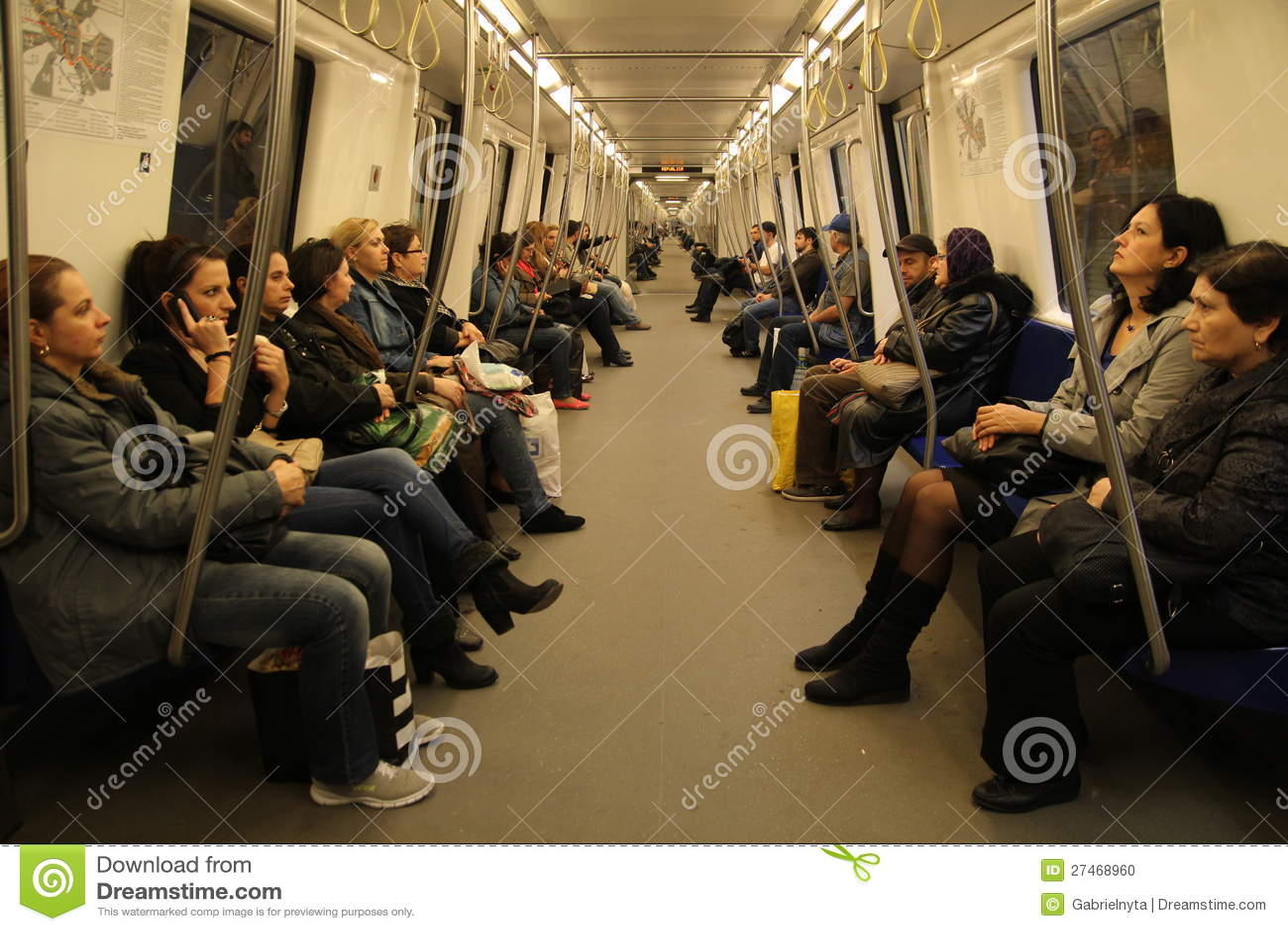 Inside metro