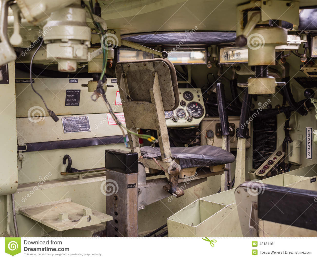 Inside A Military Tank Editorial Photo Image 43131161