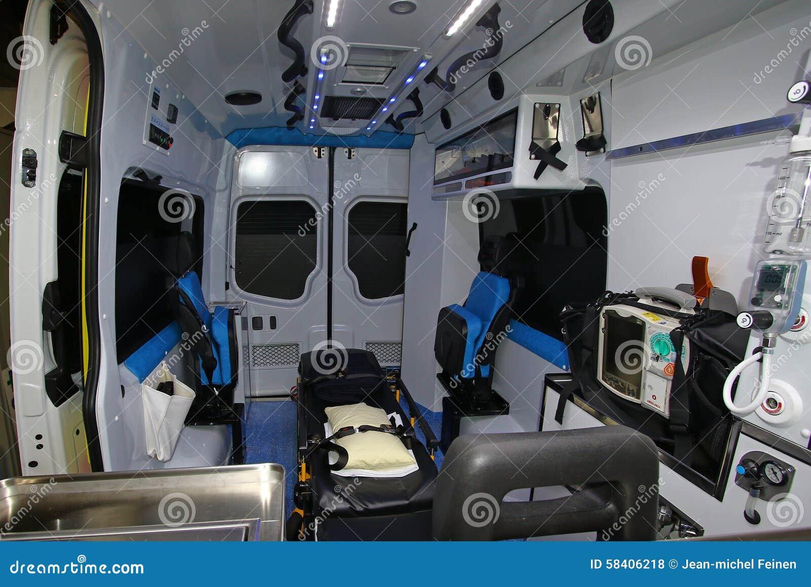 inside a modern ambulance stock photo image of night 58406218. Black Bedroom Furniture Sets. Home Design Ideas