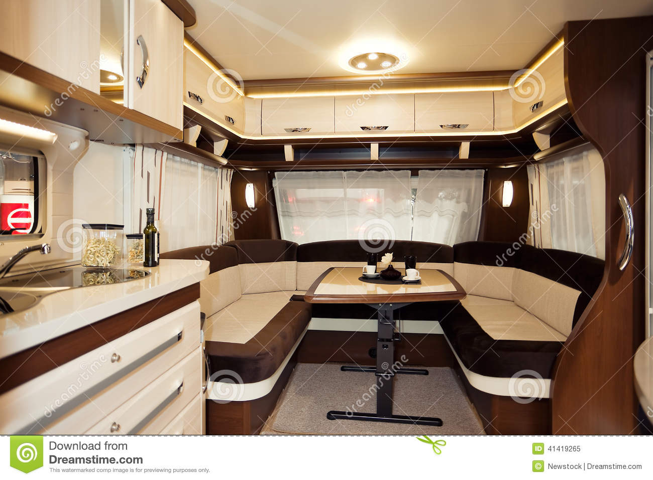 Inside Of Modern Camper Stock Photo - Image: 41419265