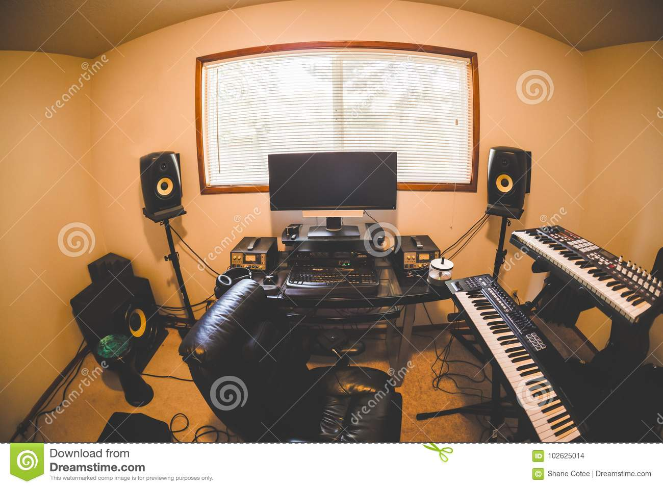 Incredible Inside A Modern Home Studio Room Stock Photo Image Of Download Free Architecture Designs Aeocymadebymaigaardcom