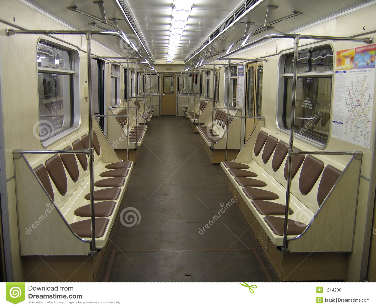 inside of modern subway car stock photo image 1214290. Black Bedroom Furniture Sets. Home Design Ideas