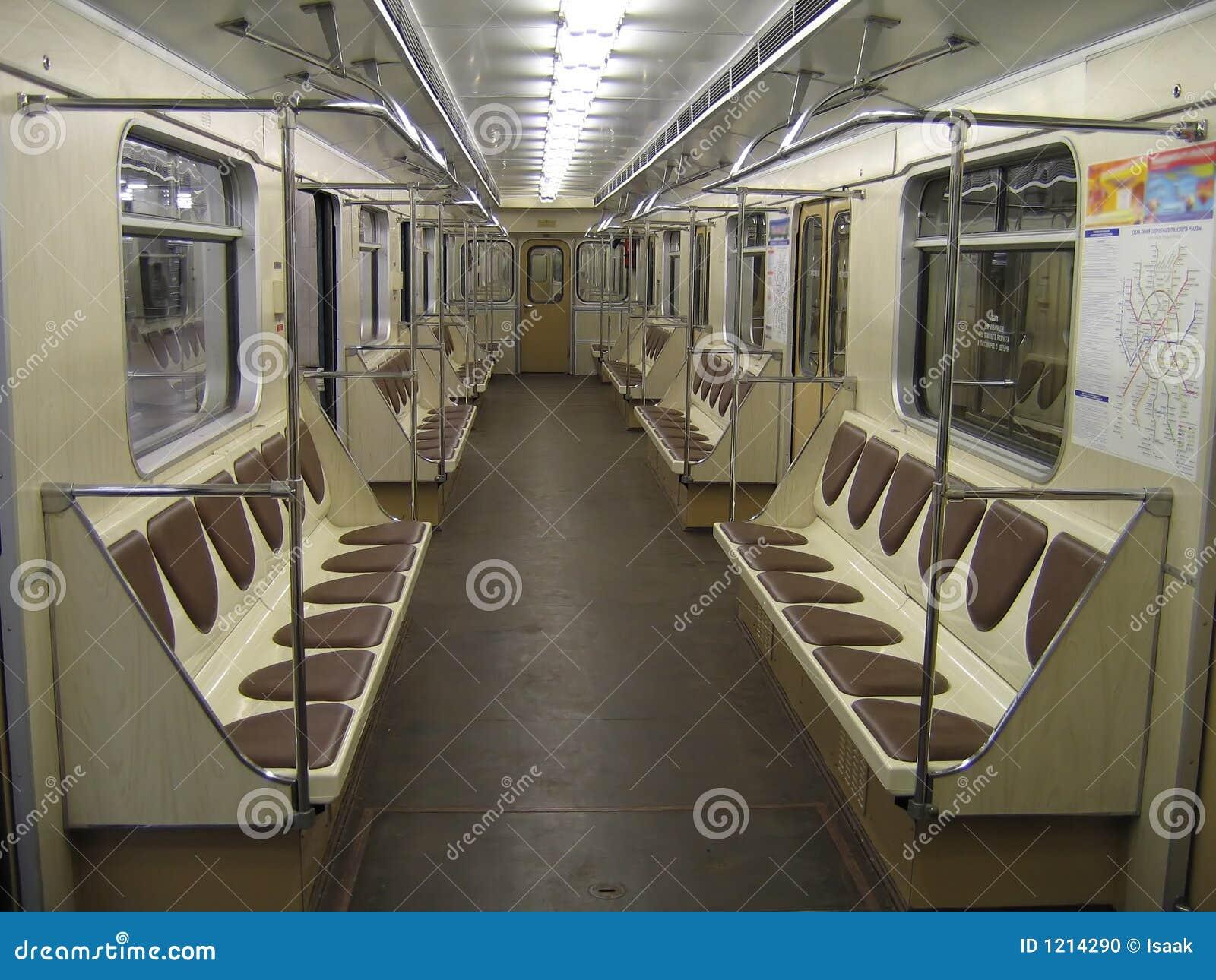 inside of modern subway car stock photo image 1214290. Black Bedroom Furniture Sets. Home Design Ideas