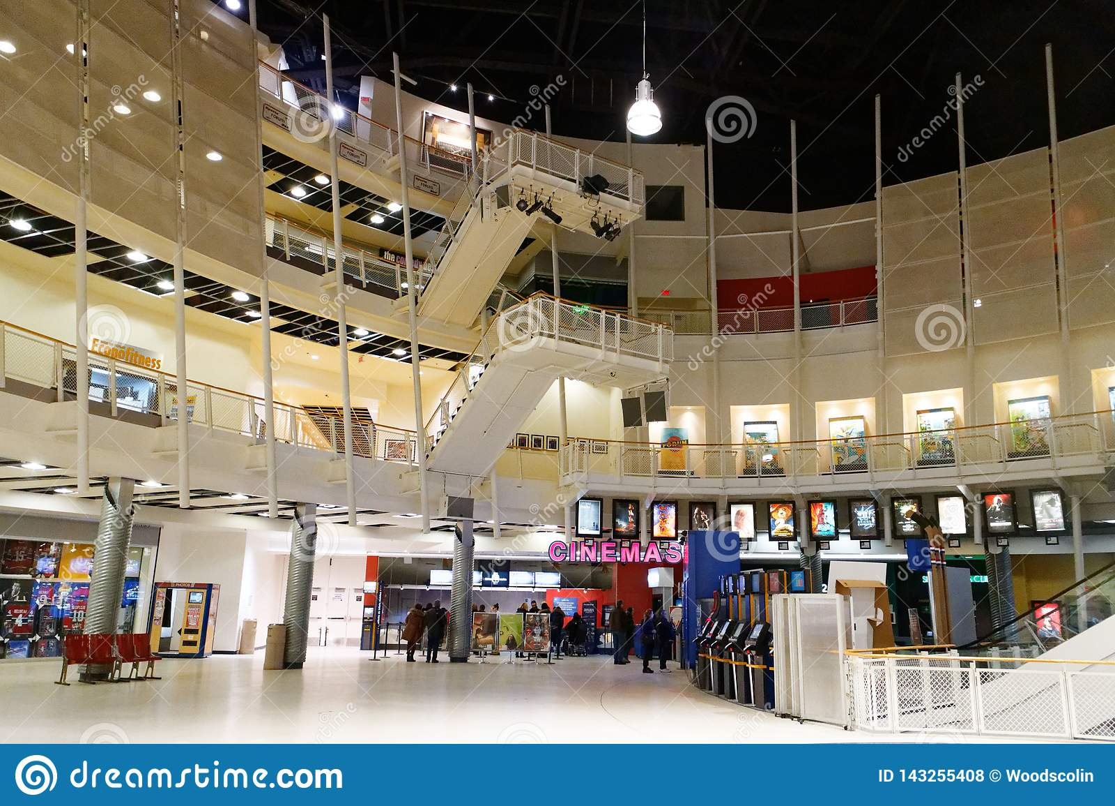 Inside the Montreal Forum cinema