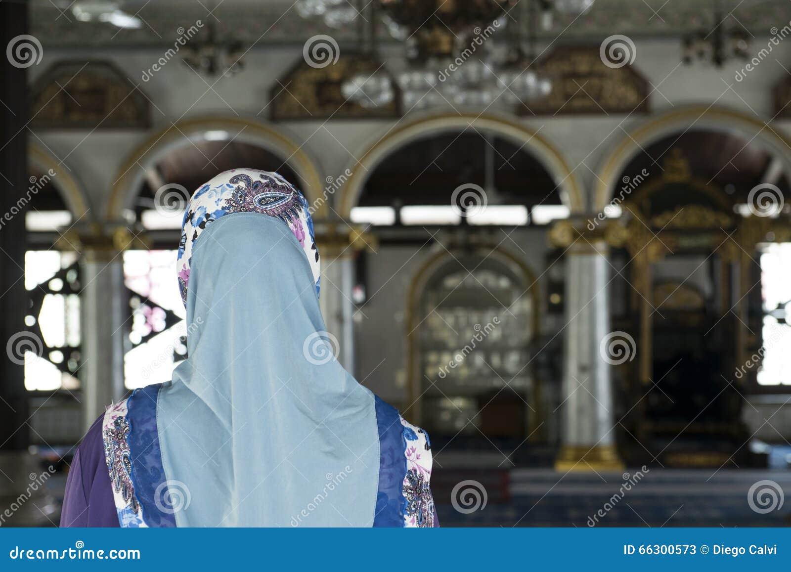 Inside a mosque on Melaka town, Malaysia